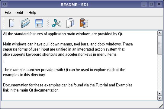 Qt 4 1: SDI Example